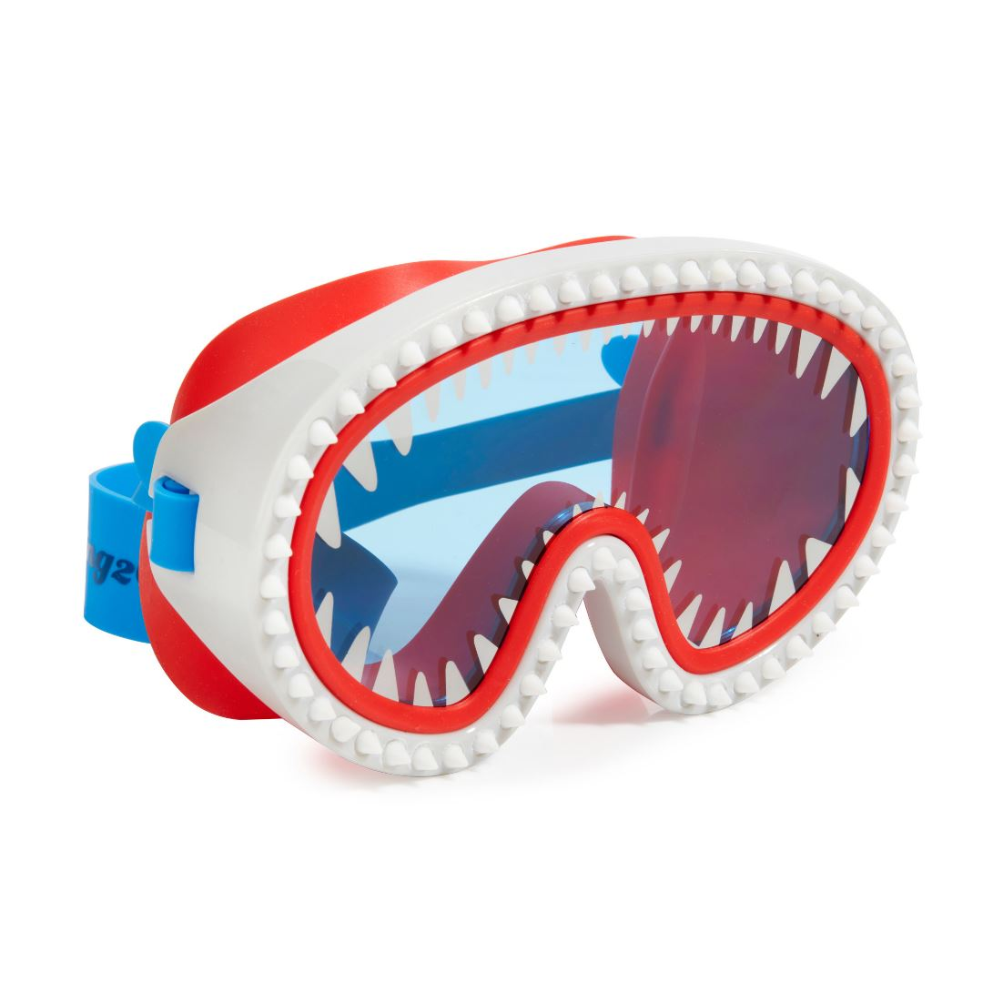 Bling2O - Shark Attack Swim Mask - Chewey Blue Lens Swim Goggles Bling2O
