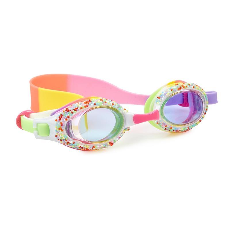 Bling2O - Take a Dip N Dots Swim Goggles - Yellow Birthday Cake Swim Goggles Bling2O