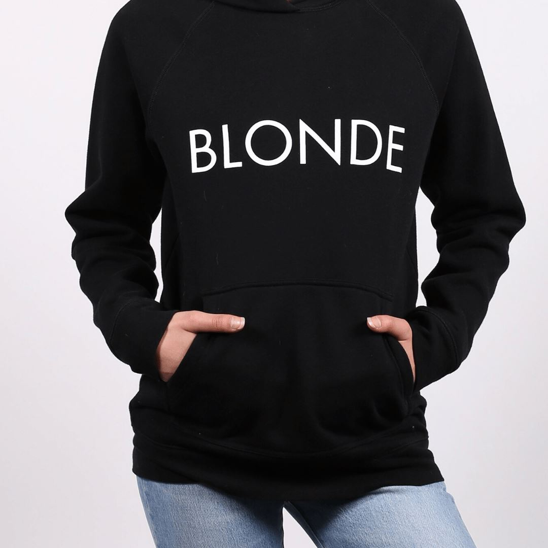 Brunette the Label - Blonde Classic Hoodie - Black Sweatshirt Brunette the Label