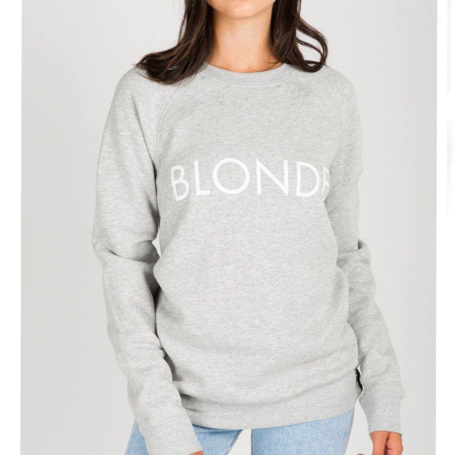 Brunette the Label - Blonde Pebble Grey Crewneck Sweatshirt Sweatshirt Brunette the Label