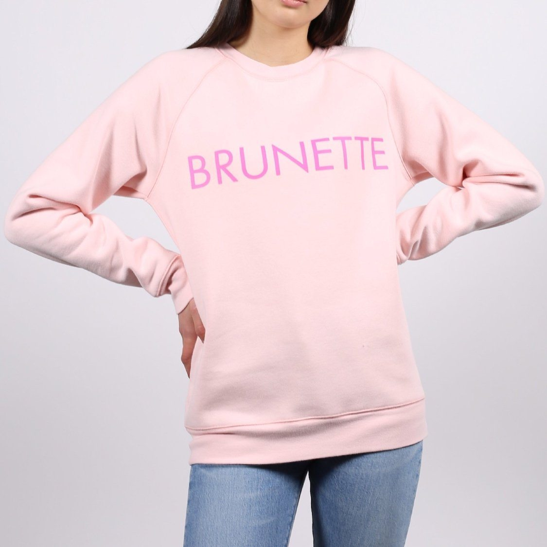 Brunette the Label - Brunette Ballet Slipper Crewneck Sweatshirt Sweatshirt Brunette the Label