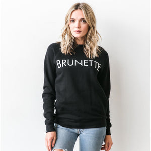 Brunette the Label - Brunette Black Crewneck Sweatshirt Sweatshirt Brunette the Label