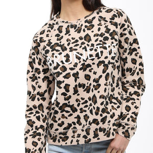 Brunette the Label - Brunette Leopard Middle Sister Crewneck Sweatshirt Sweatshirt Brunette the Label