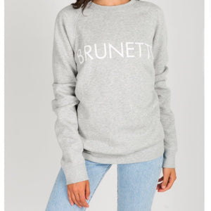 Brunette the Label - Brunette Pebble Grey Crewneck Sweatshirt Sweatshirt Brunette the Label