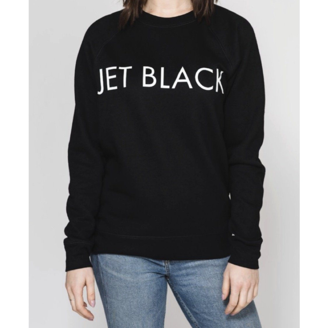 Brunette the Label - Jet Black Crewneck Sweatshirt Sweatshirt Brunette the Label