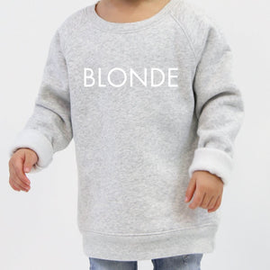 Brunette the Label - Little Babes BLONDE Pebble Grey Crewneck Sweatshirt Sweatshirt Brunette the Label
