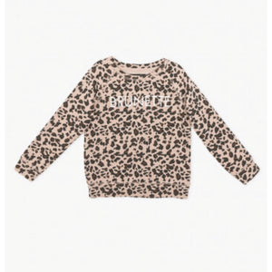 Brunette the Label - Little Babes Brunette Leopard Crewneck Sweatshirt Sweatshirt Brunette the Label