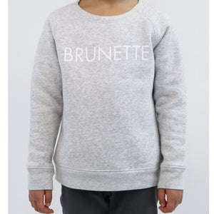Brunette the Label - Little Babes BRUNETTE Pebble Grey Crewneck Sweatshirt Sweatshirt Brunette the Label