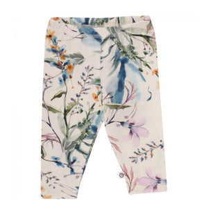 By Green Cotton - Organic Cotton Floral Print Girls Leggings Leggings By Green Cotton