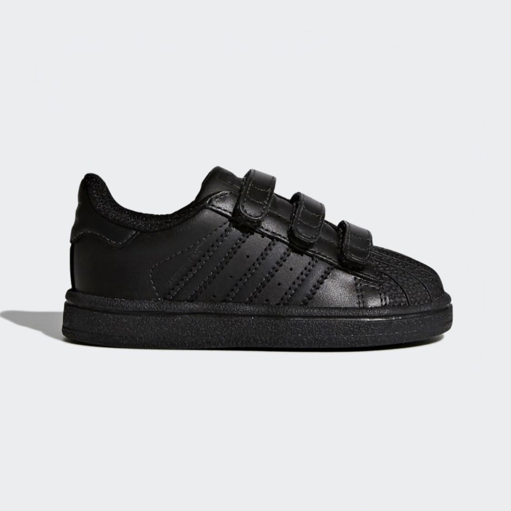 BZ0417 Adidas - Superstar Kids Black/Black Running Shoes (Toddler 4 - Kids 10) footwear Adidas