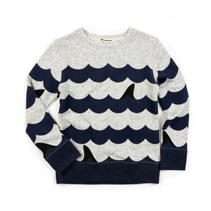 C20SCN-SCL Appaman - Suns Out, Fins Out Speckled Cloud Heather Crewneck Sweatshirt Sweatshirt Appaman