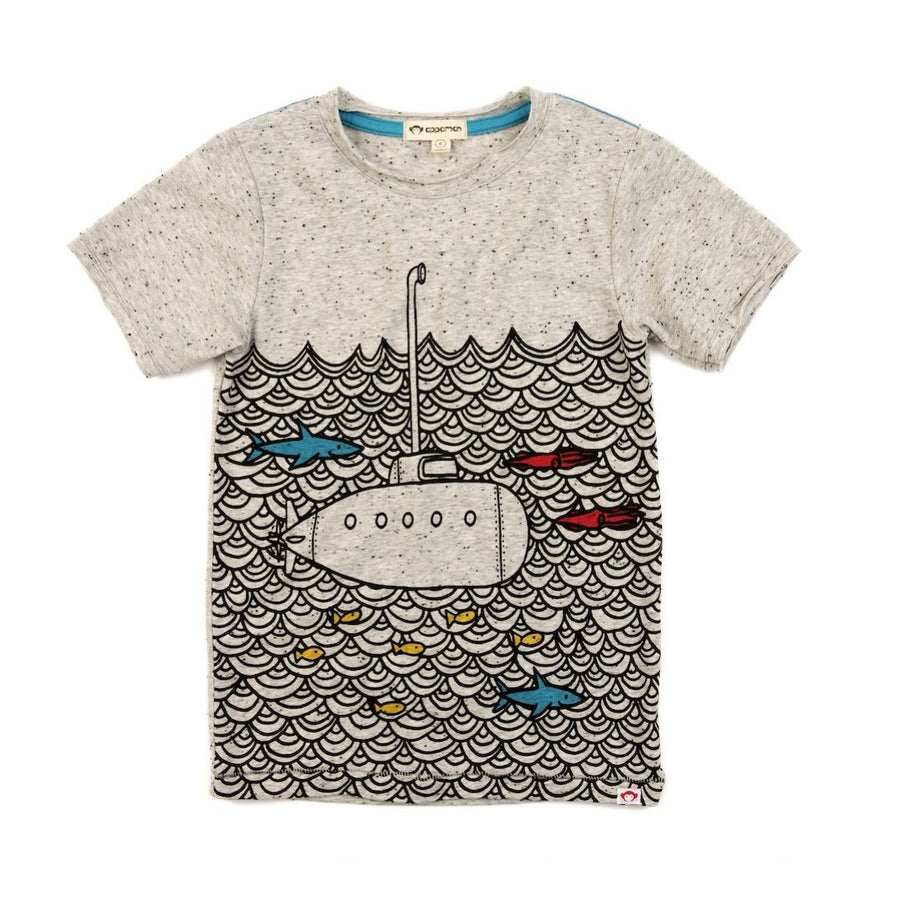 C20T3-SGH Appaman - Speckled Grey Submarine Graphic Tee Short Sleeve Shirts Appaman
