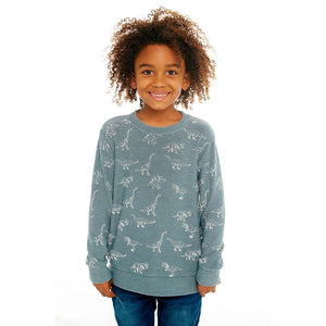 CB1049-CHK1343 Chaser - Dino Dance Long Sleeve Pull Over Sweatshirt Chaser