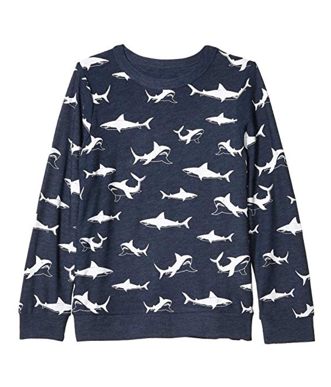CB1049-CHK1429-AVALON Chaser - Happy Sharks Long Sleeve Pullover Long Sleeve Shirts Chaser