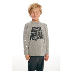 CB1049-STW005 Chaser - STAR WARS Luke & Leia Pullover Long Sleeve Shirts Chaser