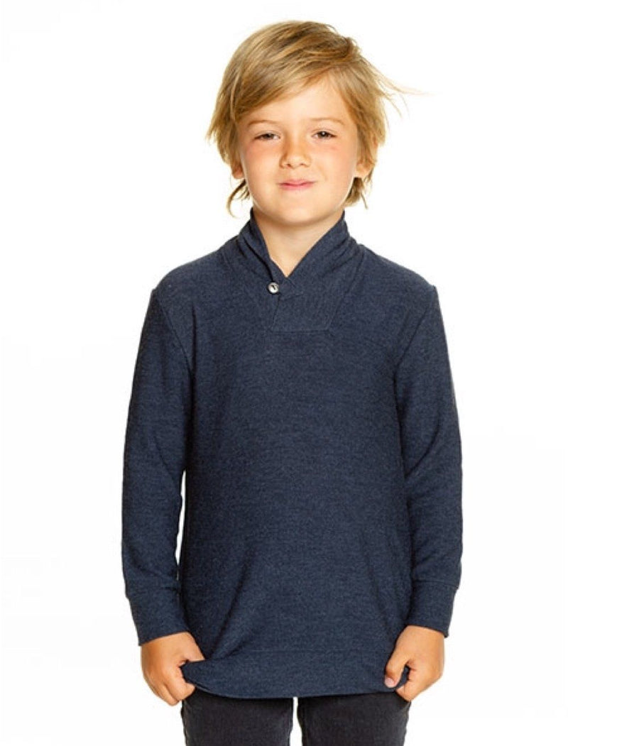 CB1086-OXFD Chaser - Boys Oxford Cozy Knit Shawl Collar Pullover Sweatshirt Chaser