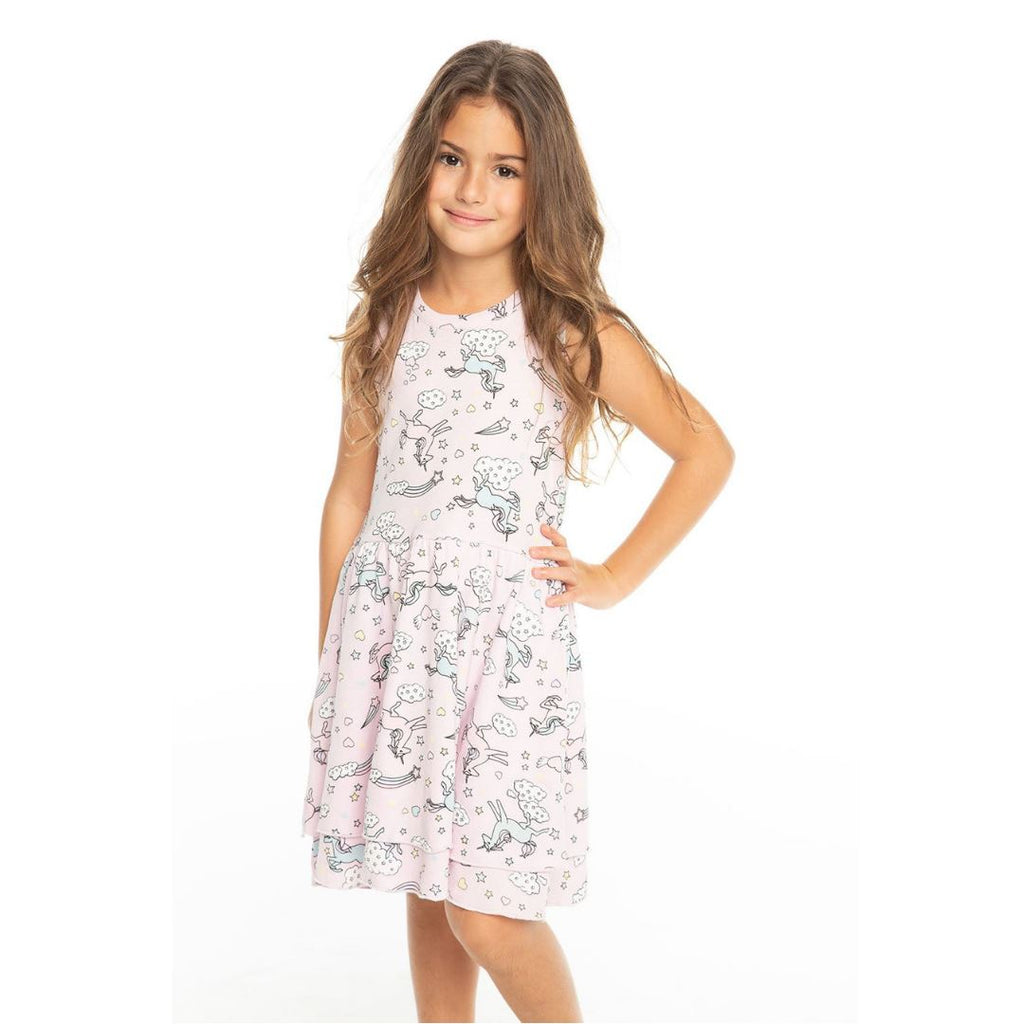 Chaser - Darling All Over Unicorns Dress Dress Chaser