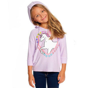 Chaser - I Love Unicorns Knit Pullover Hoody Sweatshirt Chaser