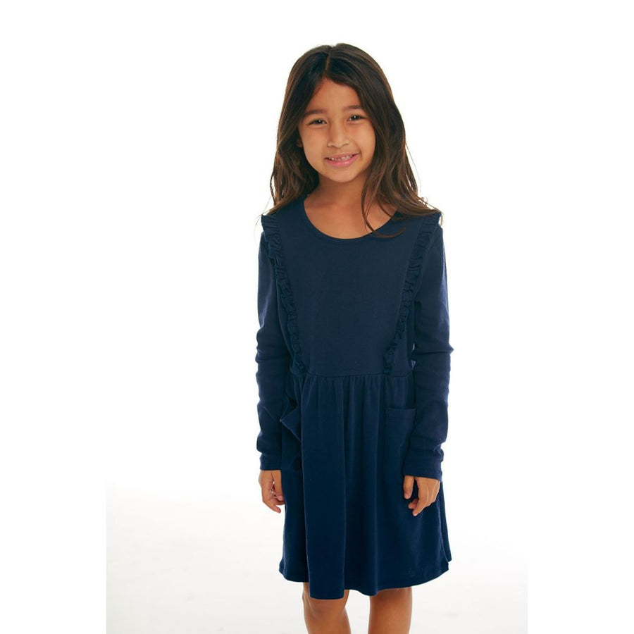 CHTW170 Chaser - Long Sleeve Avalon Girls Ruffle Dress With Pockets Dress Chaser