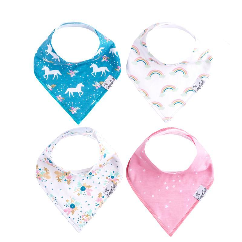 Copper Pearl - Whimsy Bandana Bibs (4 Pack) Bandana Bib Copper Pearl