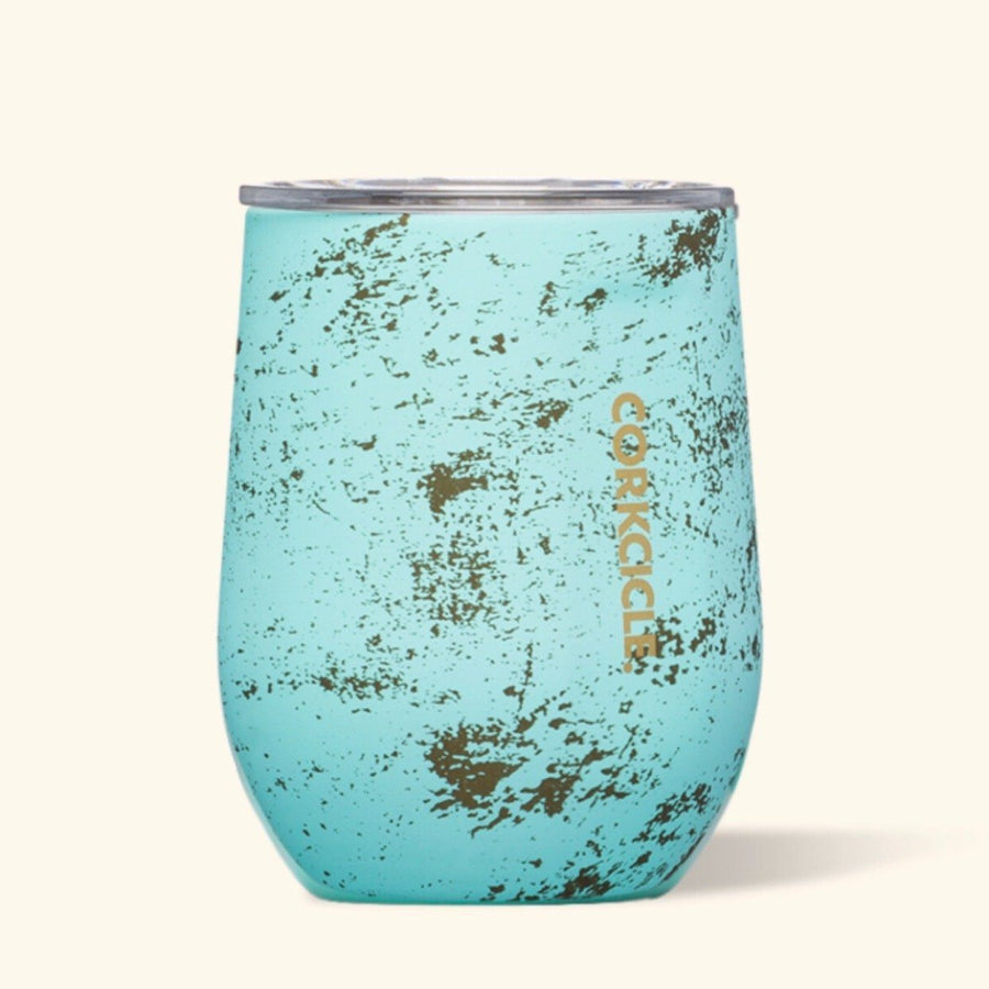 Corkcicle - 12 oz Stemless Wine Cup - Bali Blue Feeding & Mealtime Corkcicle