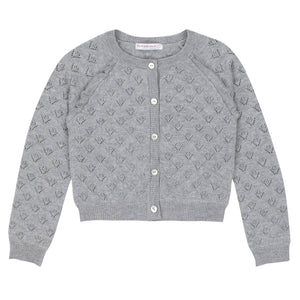 deux par deux - Light Heather Grey Knitted Cardigan Cardigan deux par deux