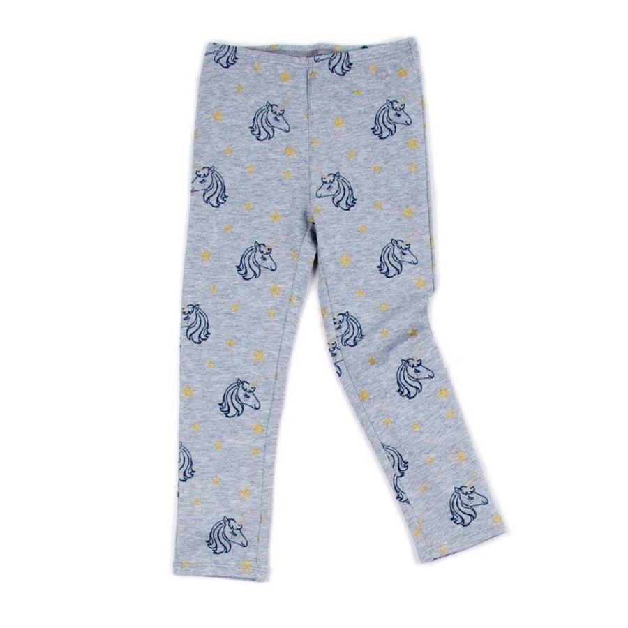 egg - Navy & Gold Unicorns Alyssa Leggings Leggings egg by Susan Lazar