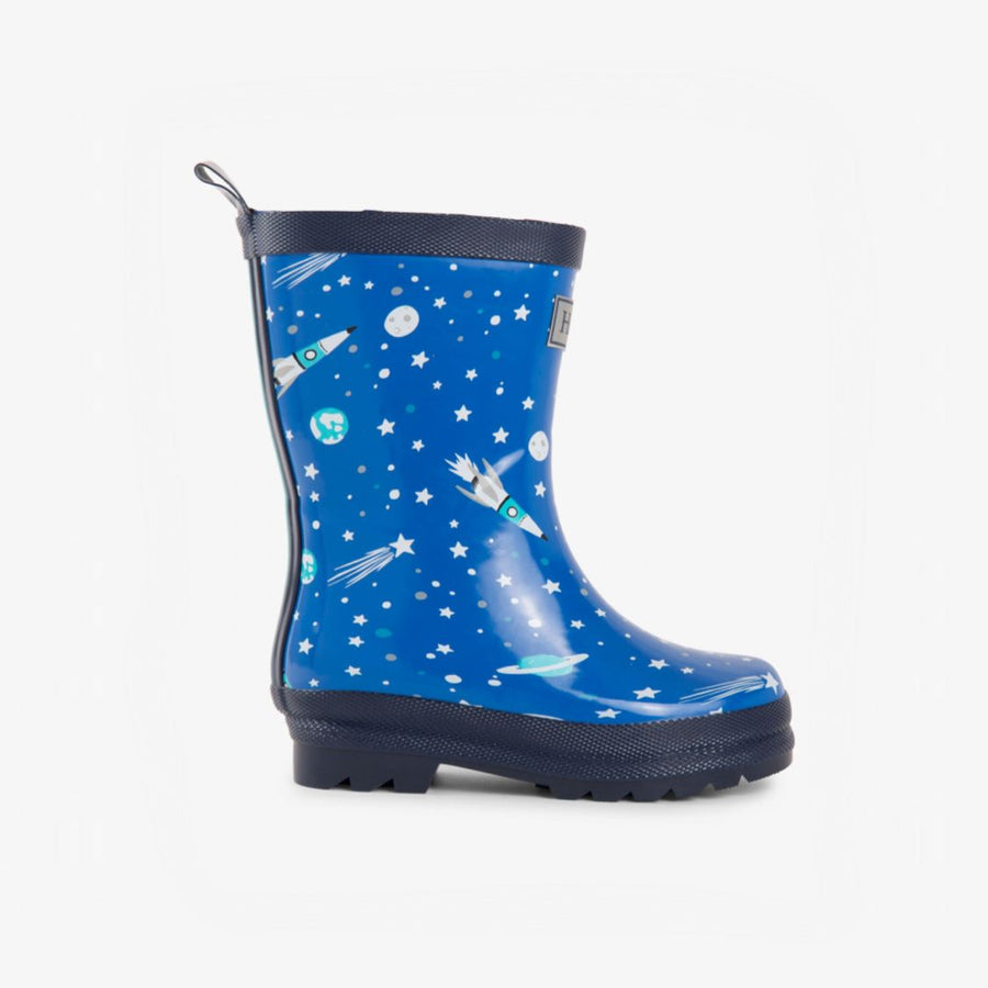 F18ASK1336 - Hatley Astronuat Rain Boots (Toddler 4 - Toddler 9) Rain Boots Hatley