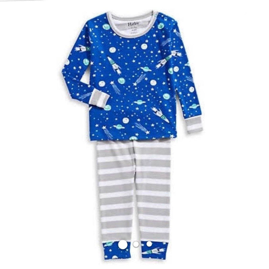 F18OSI253 Hatley - Outer Space Organic Cotton Baby Pajama Set Pajamas Hatley