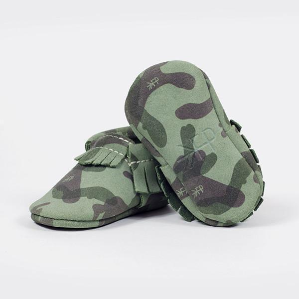 Freshly Picked - Green Camo Moccasins footwear Freshly Picked