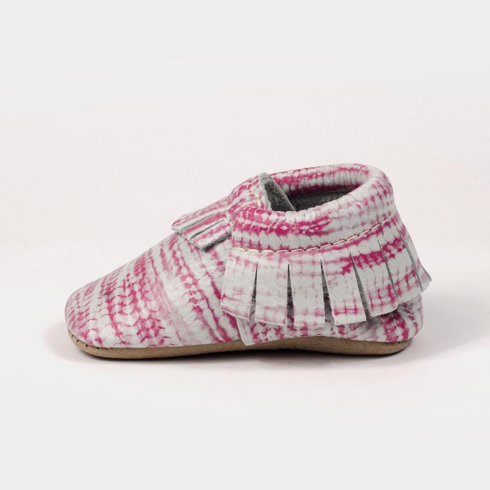 Freshly Picked - Hot Pink Tie Dye Moccasins footwear Freshly Picked