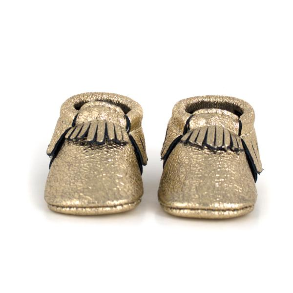 Freshly Picked - Metallized Gold Moccasins footwear Freshly Picked