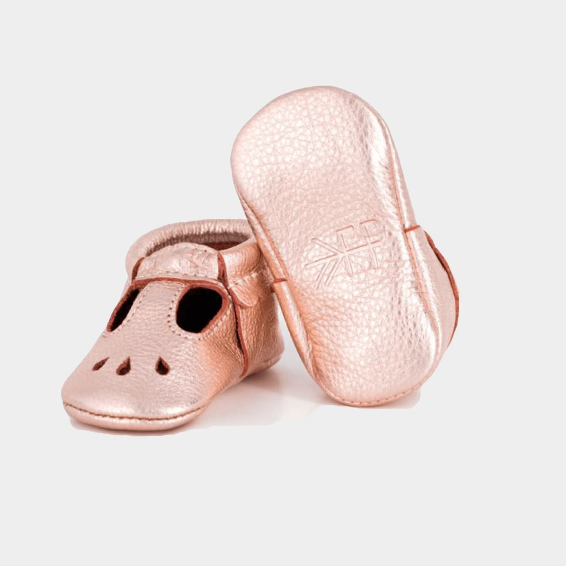 Freshly Picked -Rose Gold Mary Janes (24-36 Months) footwear Freshly Picked