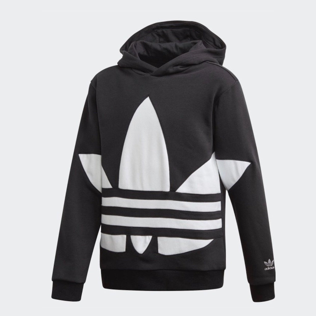 FS1857 Adidas - Youth Big Trefoil Hoodie - Black Sweatshirt Adidas