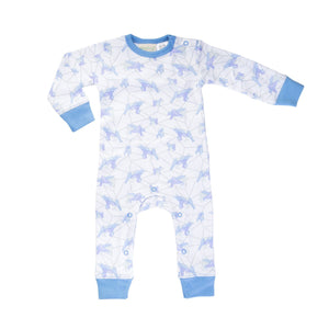 Galaxy Bear Blue Romper Romper Sapling Child