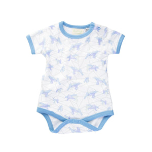 Galaxy Bear Blue Short Sleeve Bodysuit Onesie Sapling Child