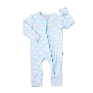 Gigi and Max - Andy Clouds Newborn Footed Zip Sleeper Gigi and Max