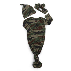 Gigi and Max - Camo Knotted Button Gown Romper Gigi and Max