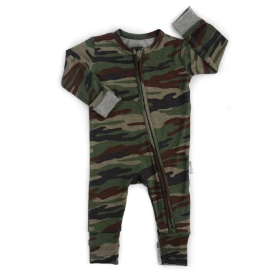 Gigi and Max - Camo One Piece Romper Romper Gigi and Max