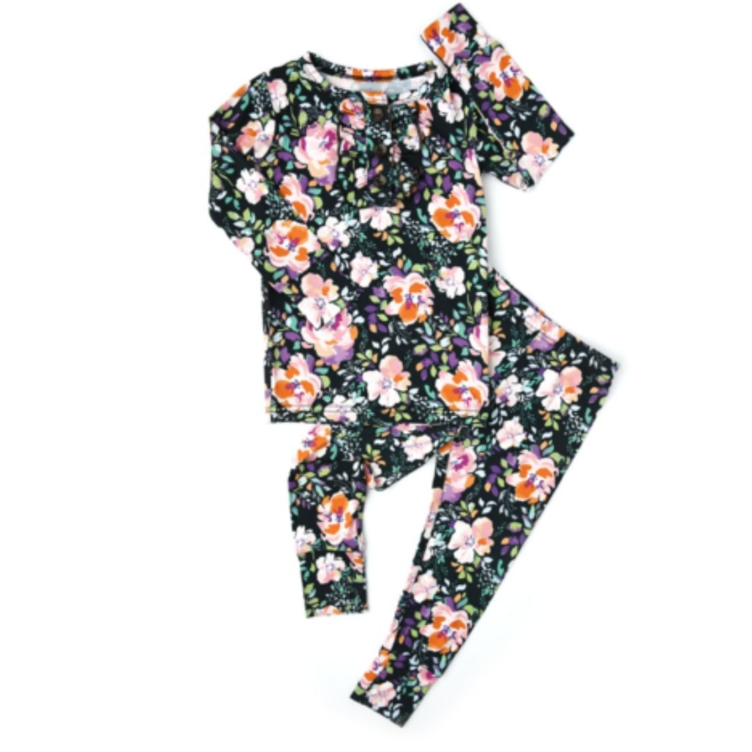 Gigi and Max - Willow Floral Ruffle Two Piece Lounge Set pajamas Gigi and Max