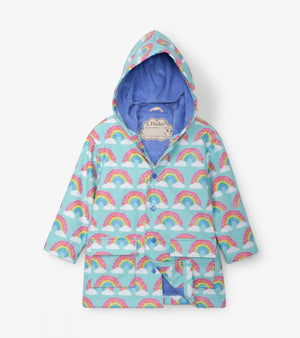 Hatley - Aqua Splash Magical Rainbows Raincoat Rain Coat Hatley
