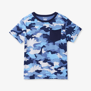 Hatley Dino Camo Graphic Pocket Tee Short Sleeve Shirt Hatley