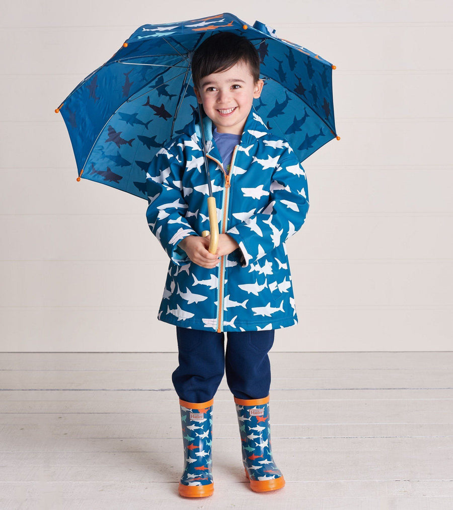 Hatley - Great White Sharks Color Changing Splash Jacket Rain Coat Hatley