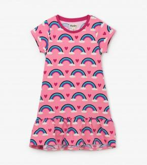 Hatley - Hearts & Rainbows Jersey Flounce Hem Dress Dress Hatley