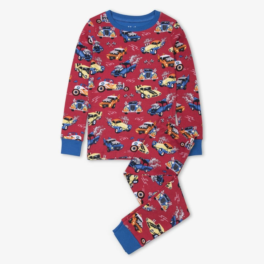 Hatley - Hot Rods Organic Cotton Raglan Pajama Set Pajamas Hatley