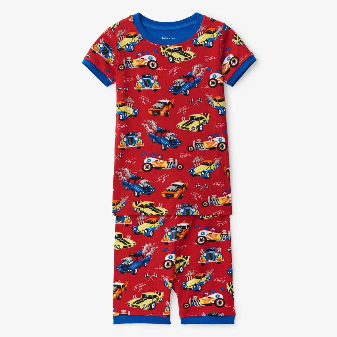 Hatley - Hot Rods Organic Cotton Short Pajama Set Pajamas Hatley