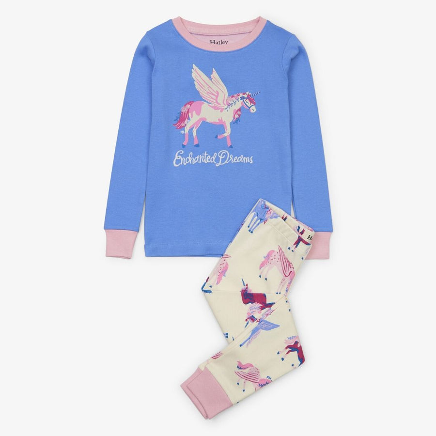Hatley - Mystical Unicorns Organic Cotton Applique Pajama Set Pajamas Hatley