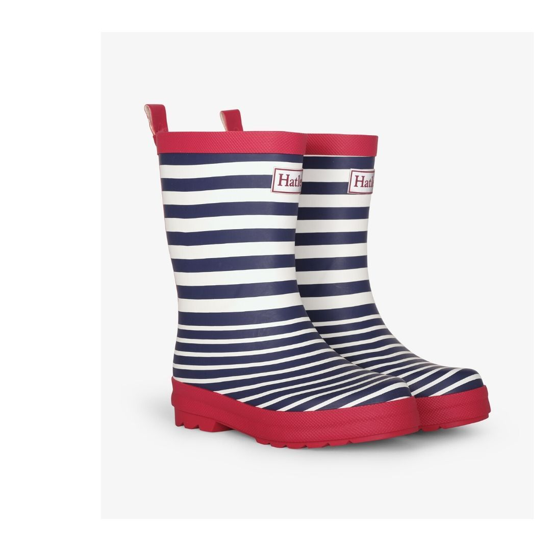 Hatley Nautical Stripes Rain Boots Rain Boots Hatley
