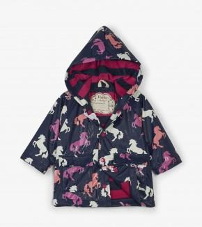Hatley - Playful Horses Color Changing Raincoat Raincoat Hatley