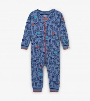 Hatley - Puppy Pals Organic Cotton Footed Coverall Pajamas Hatley